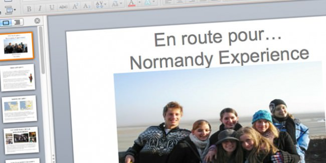 Powerpoint files for your school trip to Normandy